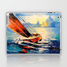 Yacht in the wind Laptop & iPad Skin