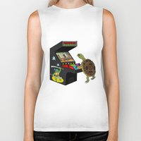 ninja turtle Biker Tanks featuring Arcade Ninja Turtle by Michowl
