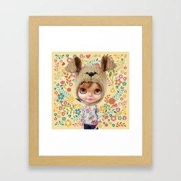 ERREGIRO BLYTHE DOLL CHIO FLOWERS Framed Art Print