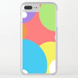 color bubbles Clear iPhone Case