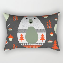 Christmas bears and birds Rectangular Pillow