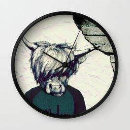 Yak Head Wall Clock