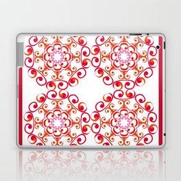 Grace Mandala Tiled - Red White Laptop & iPad Skin