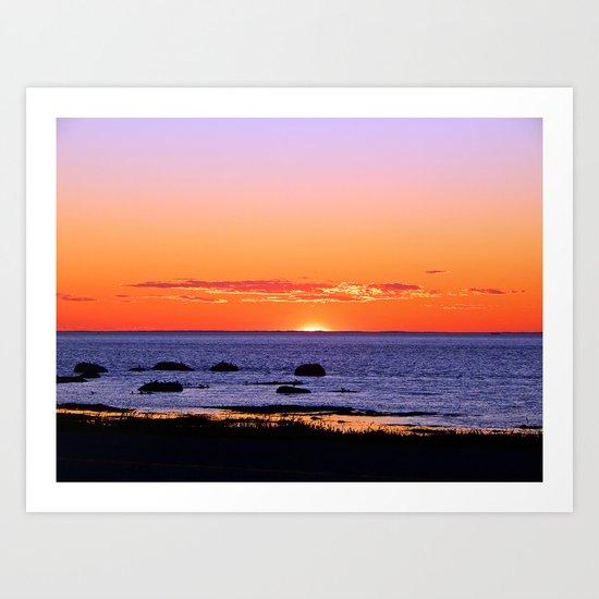 Stunning Seaside Sunset Art Print