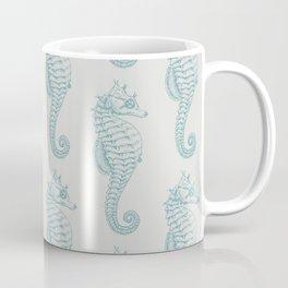 Tropical Seahorses (Seahorse Pattern) - Blue Coffee Mug