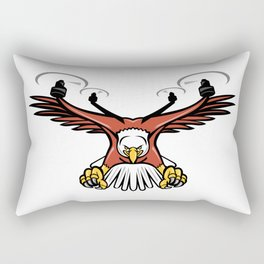 Half Eagle Half Drone Swooping Mascot Rectangular Pillow