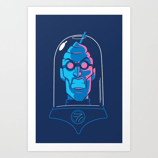 Mr. Brain Freeze Art Print