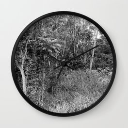 The Forest in Monochrome Wall Clock