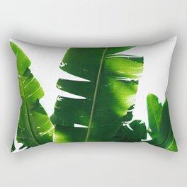Leaves Green Rectangular Pillow