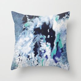 Carefree Blue Abstract Throw Pillow