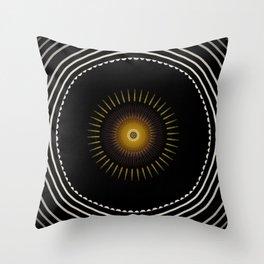 Modern decorative Black and White Mandala Throw Pillow