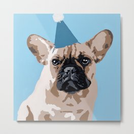 Milo in blue Metal Print