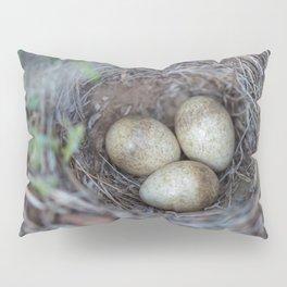 Horned lark nest and eggs - Yellowstone National Park Pillow Sham