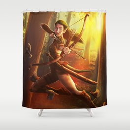 Morning Hunt Shower Curtain
