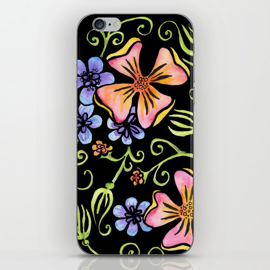Electric Flora iPhone & iPod Skin