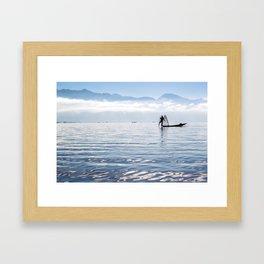 Inle Lake Fisherman Framed Art Print