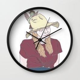 ~girl with a pixie~ Wall Clock