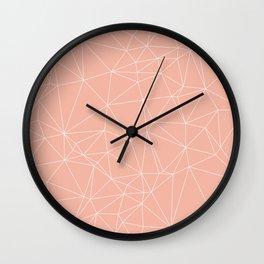 Millennial Pink Geometric Minimalist Pattern Wall Clock