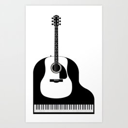 Piano and Guitar Art Print