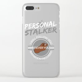 Funny Animal Guinea Pig Tshirt Design Personal stalker Clear iPhone Case