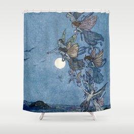 """Elves"" Fairy Tale Art by Edmund Dulac Shower Curtain"