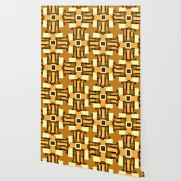 Gold Beige Pipe System,Streampunk Wallpaper