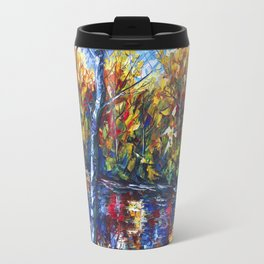 Dreaming Forest with Palette Knife Travel Mug