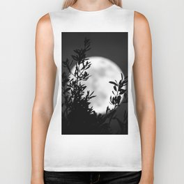 Full Moon Leaves Biker Tank