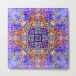 Spectral Threads Metal Print