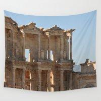 turkey Wall Tapestries featuring Ephesus, Turkey I by Alaskan Momma Bear
