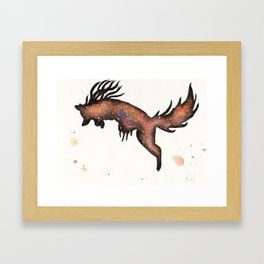 Red Nebula Fox Framed Art Print