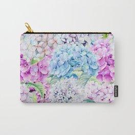 Multicolor Watercolor Hydrangea dream pattern Carry-All Pouch