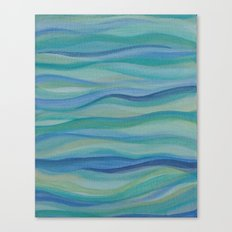 Surf Abstract Waves Canvas Print