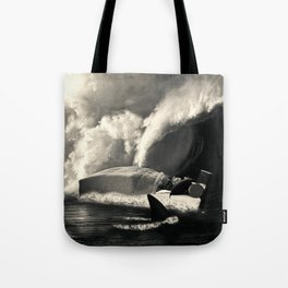 Sleeping with Sharks Black and White Tote Bag