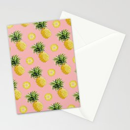 Pineapple and Pink III Stationery Cards