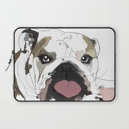 English Bulldog Love Laptop Sleeve