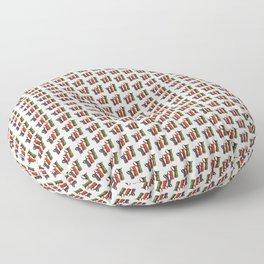 Narrowboat art Jugs pattern Floor Pillow