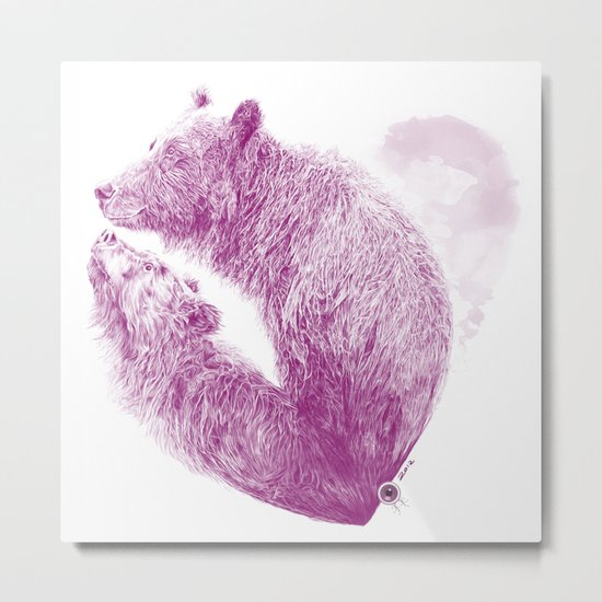 Bear your Heart Metal Print
