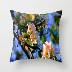 Evening Blossoms Throw Pillow