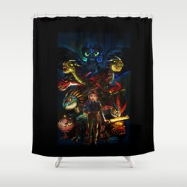 DRAGONS!! Shower Curtain