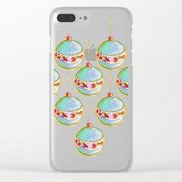 Christmas bulbs Clear iPhone Case