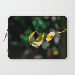 Yellow leaves in colorful bokeh Laptop Sleeve
