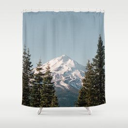 Mt Shasta Morning Shower Curtain