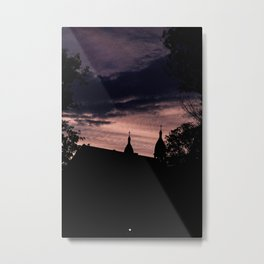 Stormy Night in Montreal Metal Print