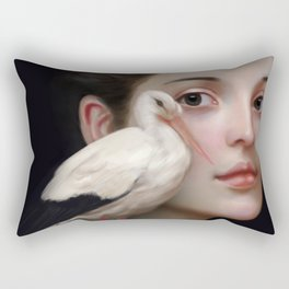 Miss Stork Rectangular Pillow