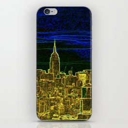 New York Neon Lights iPhone Skin