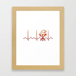 CHEF HEARTBEAT Framed Art Print