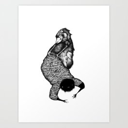 Ink Fingers Art Print