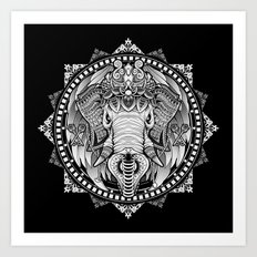 Elephant Medallion Art Print