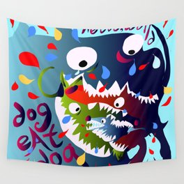 Dog Eat Dog Wall Tapestry